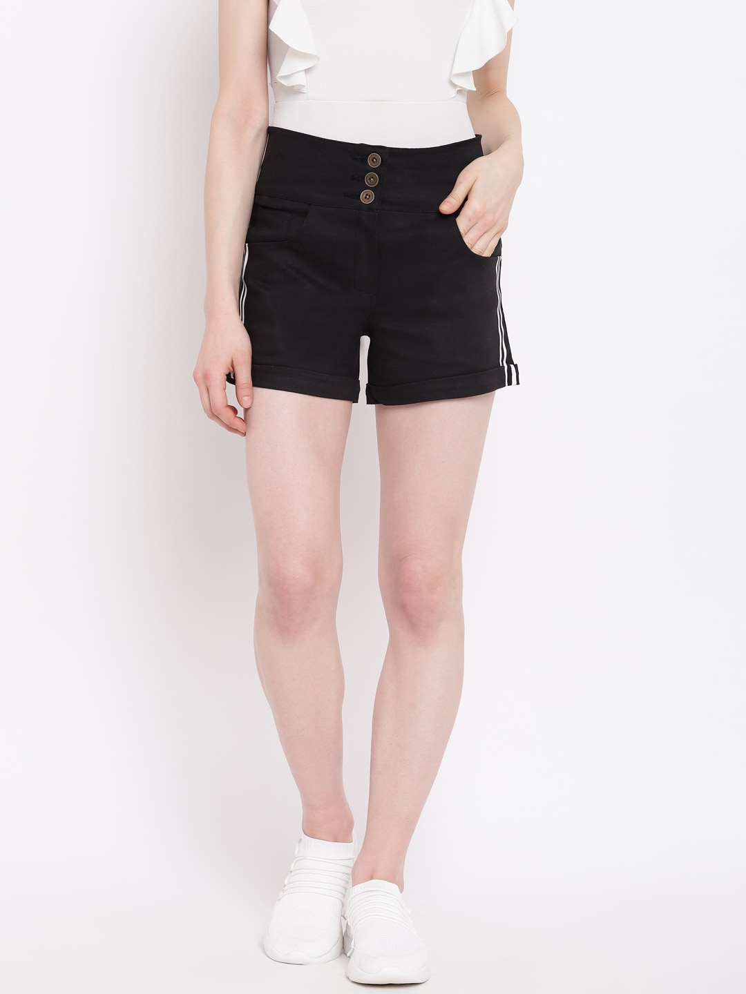 6c41054fdde High Rise Shorts - Buy High Rise Shorts online in India