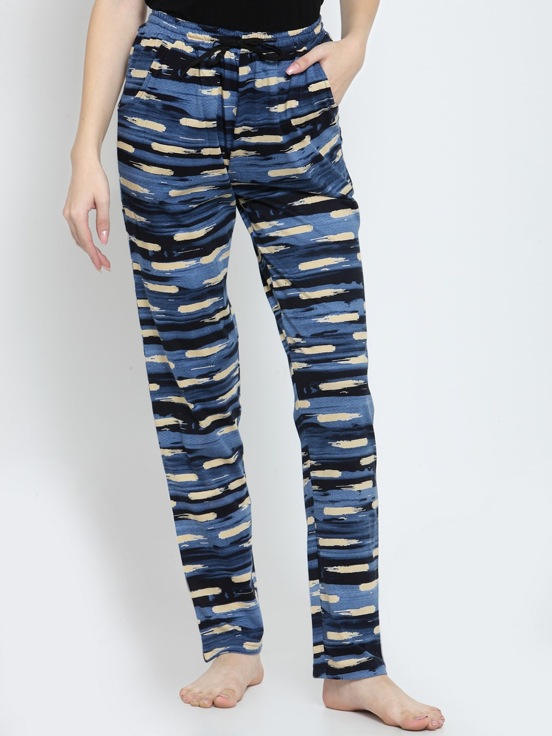 1d25877f Blue Lounge Pants - Buy Blue Lounge Pants online in India