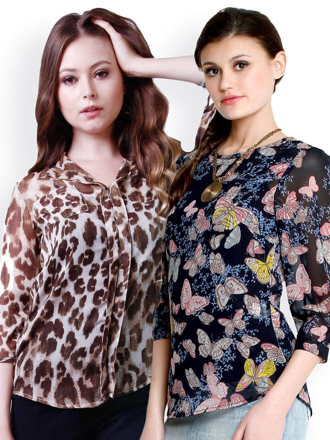 9869dcc542 The Gud Look Women Pack of 2 Printed Tops