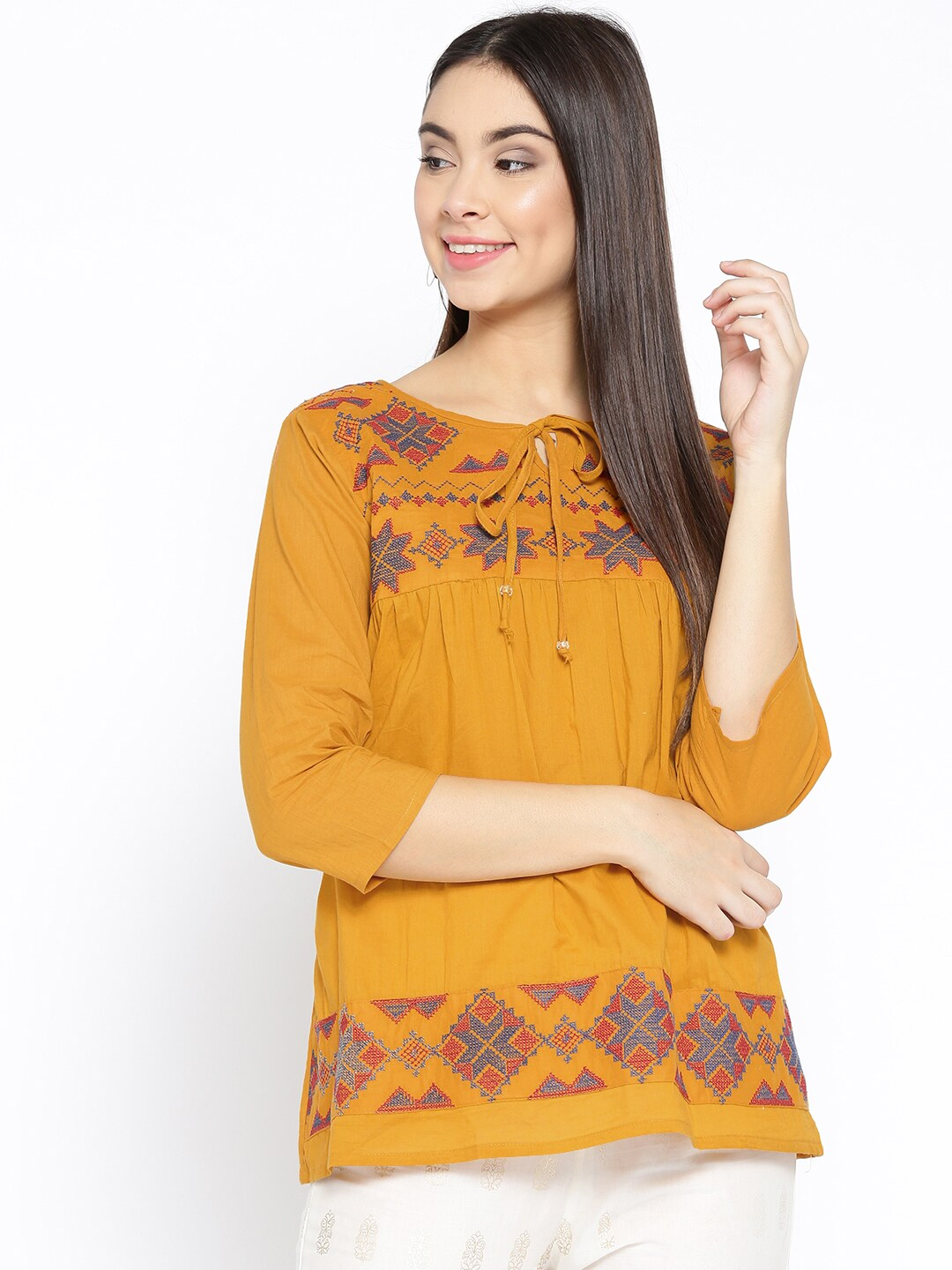 bf3dad52e00b54 Ladies Tops - Buy Tops & T-shirts for Women Online | Myntra