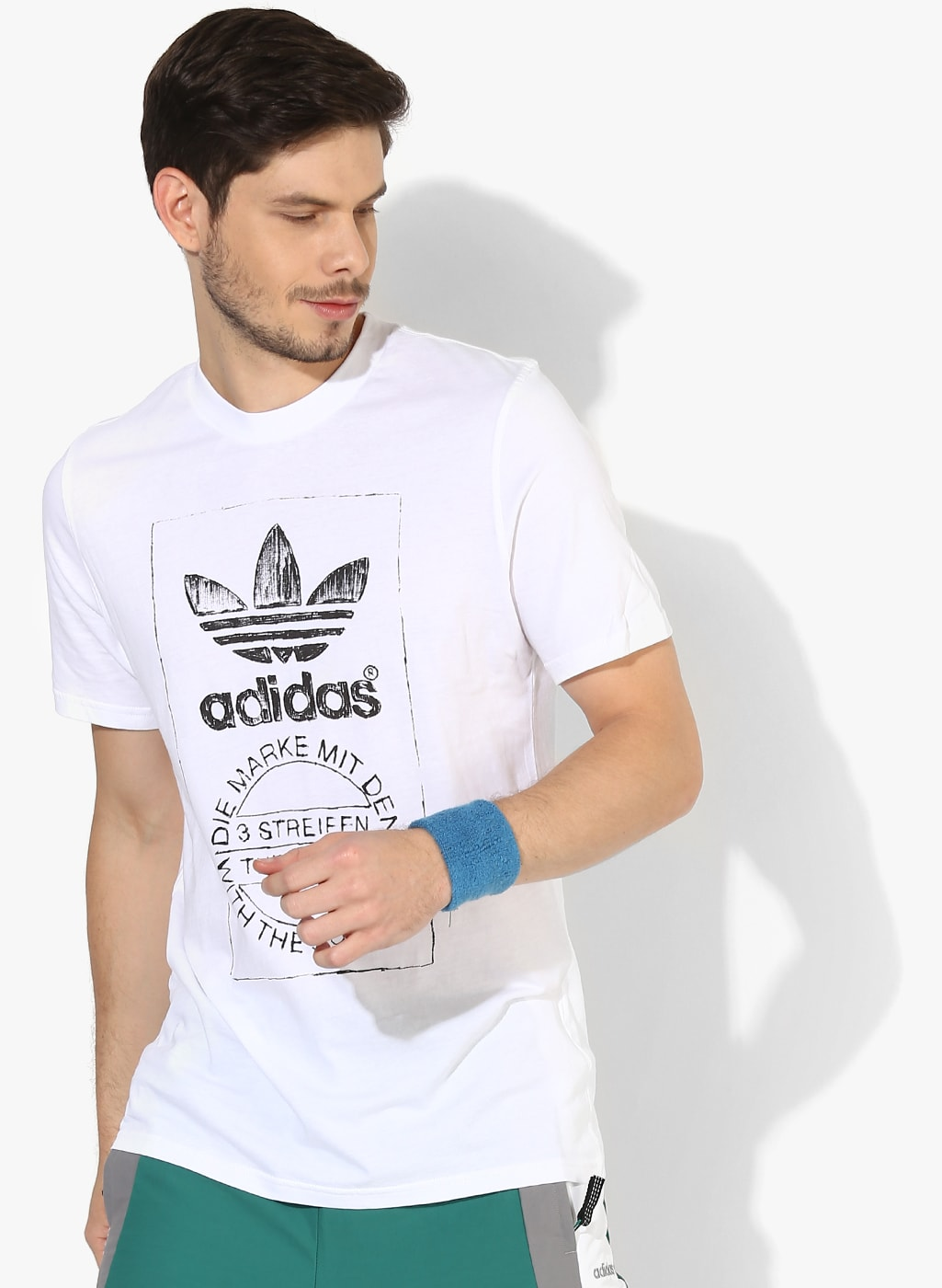 the latest 70ab2 a35a7 Adidas Originals Tshirts Wristbands Jackets - Buy Adidas Originals Tshirts  Wristbands Jackets online in India