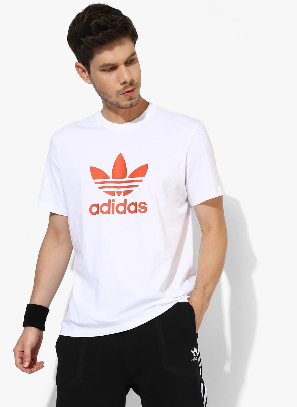 Adidas Trefoil Tshirts - Buy Adidas Trefoil Tshirts online in India 798194e8082a