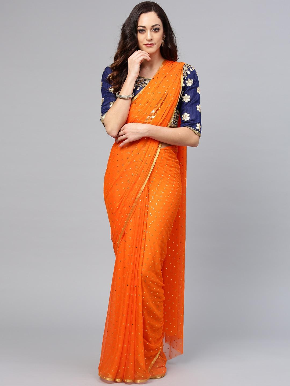 a03454a24700db Orange Saree - Buy Orange Saree online in India