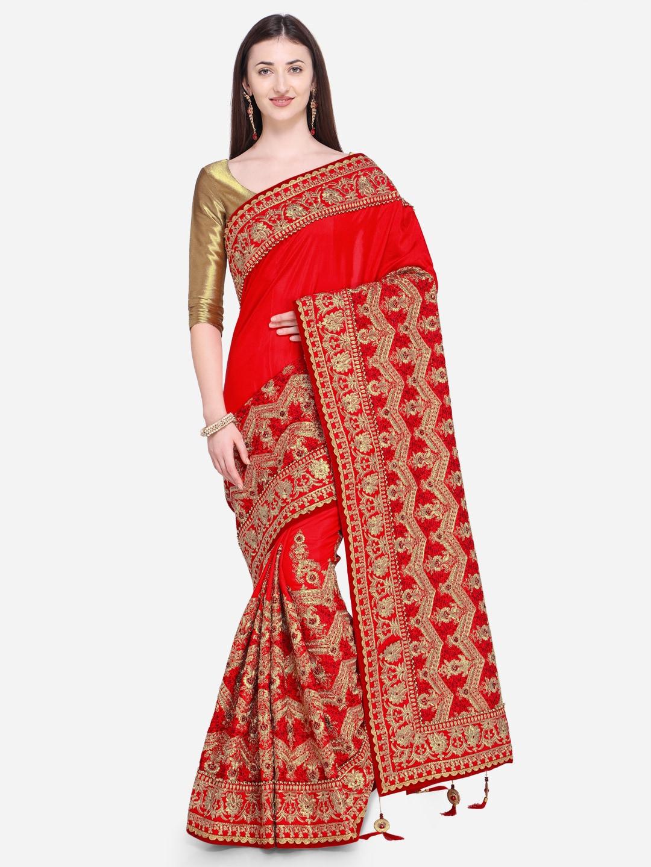 14506d4b3fd Satin Sarees - Appealing Satin Sarees Collection Online in India - Myntra