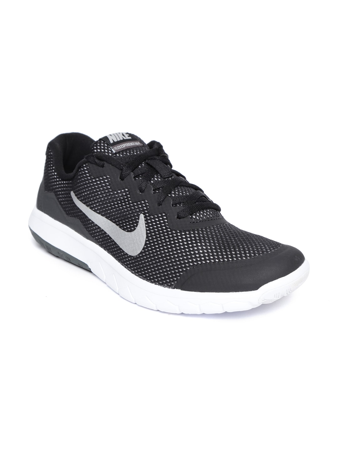 new style a0b0f 79d0f Nike Boys Black Flex Experience 4 Running Shoes