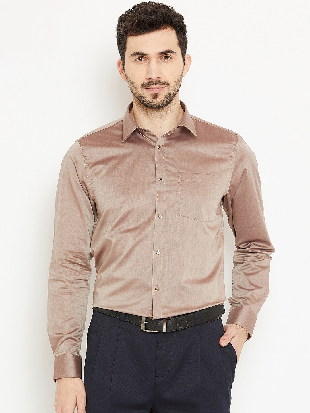 fc2e5fbfee Brown Shirts - Buy Brown Shirt Online in India