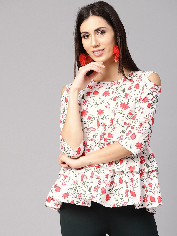 5bc0ec103364d Cold Shoulder Tops - Buy Cold Shoulder Tops for Women Online - Myntra