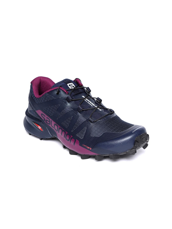 taille 40 7b1b5 b5bb9 Salomon Women Navy Blue Running Shoes