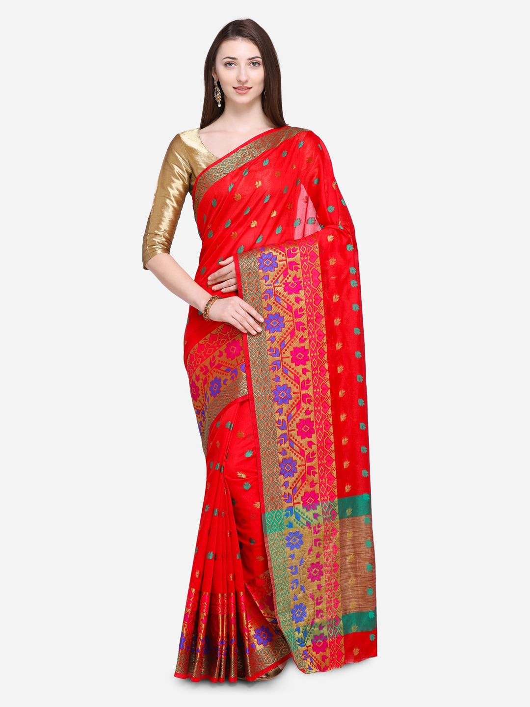 a3b2f1fe1f6 Chanderi Sarees - Buy Chanderi Sarees Online in India