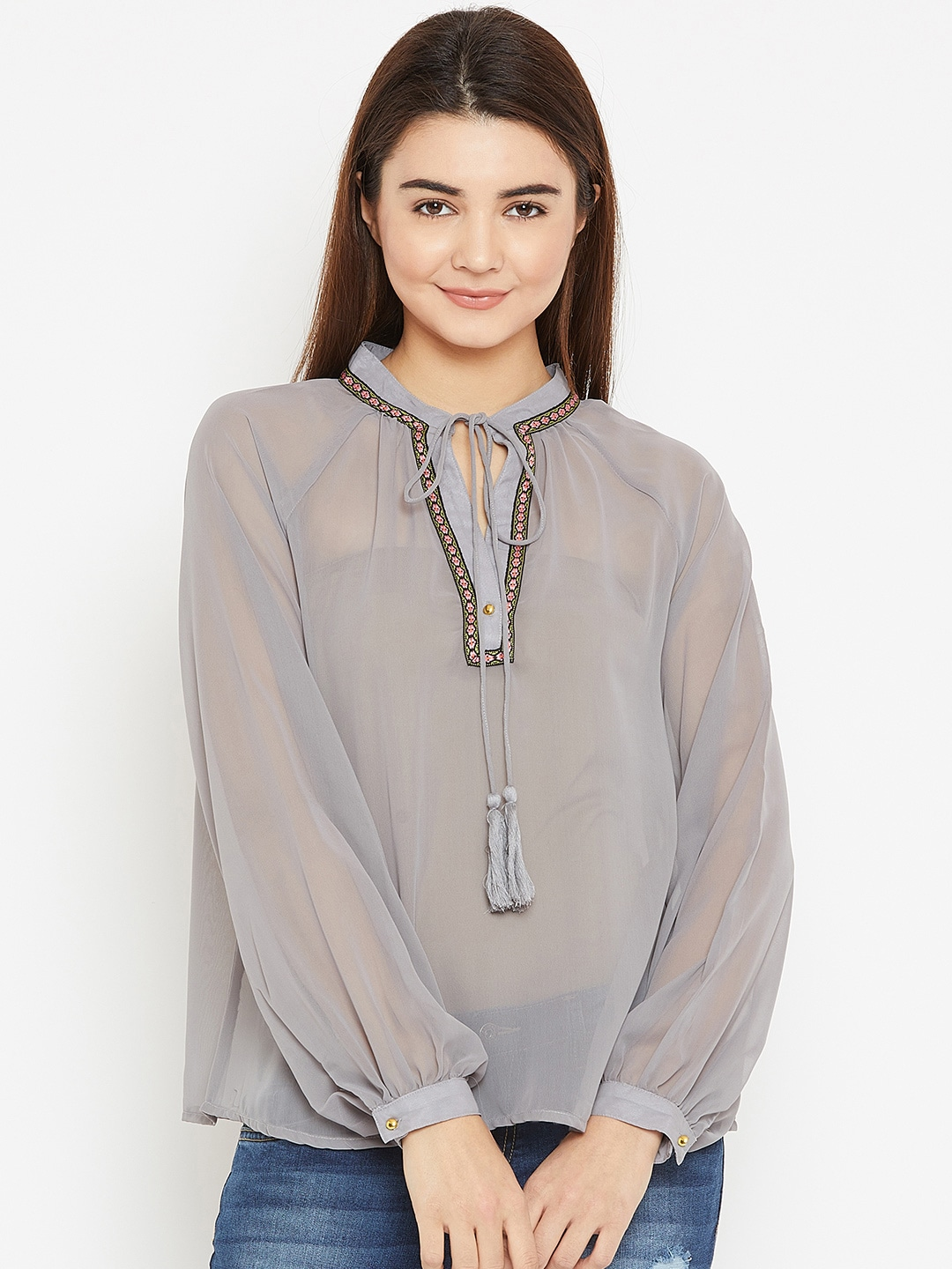 3395ab44a5cf86 Ladies Tops - Buy Tops & T-shirts for Women Online | Myntra