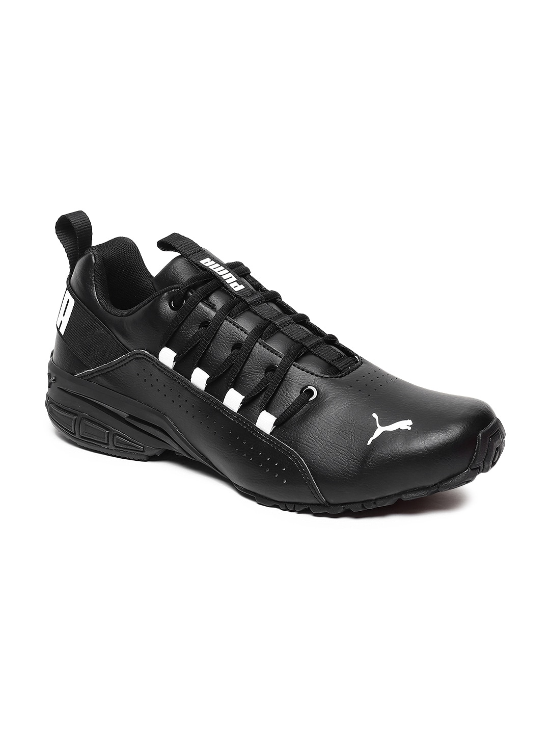 c2fbd528ade Puma Men Black Hexa Dot Running Shoes