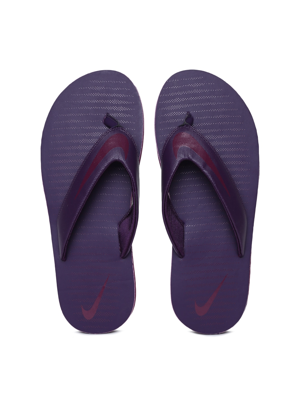 cheap for discount 9e603 4c08e Nike Men Purple Solid Thong Flip-Flops