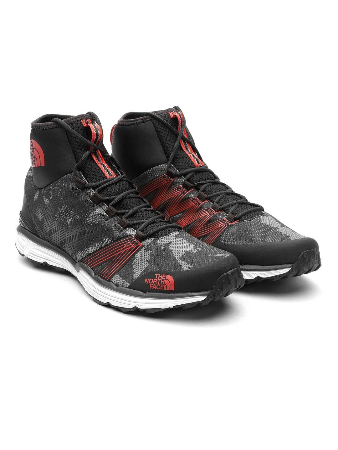 9cd551371 The North Face Men Charcoal Mesh Mid-Top Running Shoes