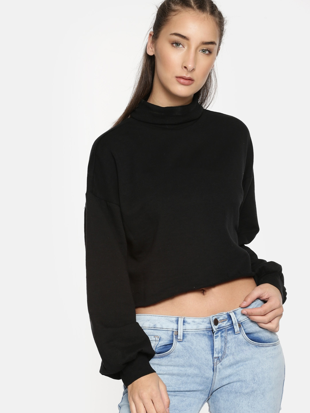 4988b54094a40 Cropped Sweatshirts - Buy Cropped Sweatshirts online in India