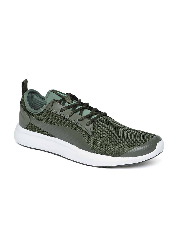 Puma Men Olive Green Breakout v2 IDP Forest Night Laurel Wrea Sneakers
