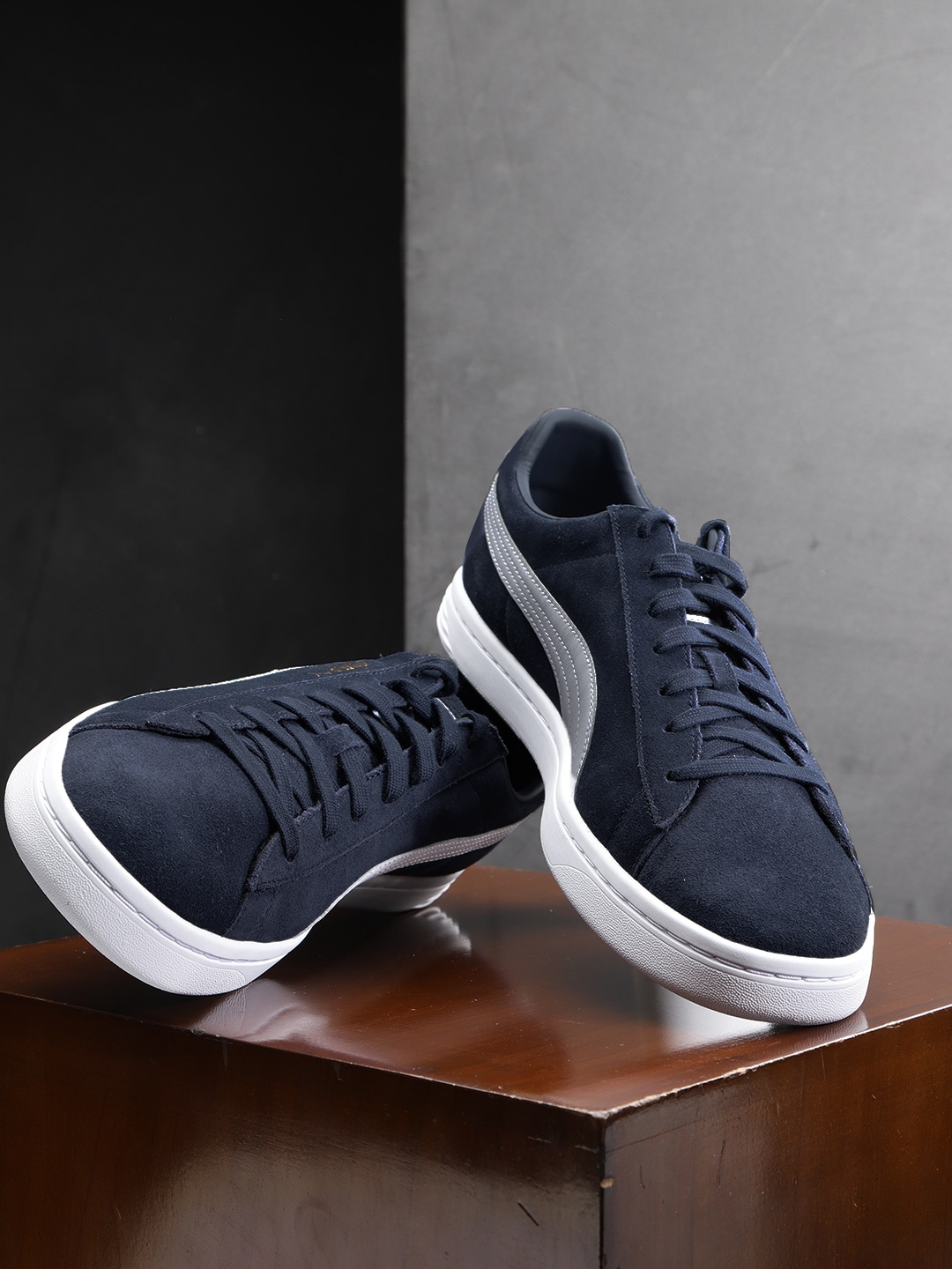 new concept 4fd3c 4d37b Puma Unisex Navy Blue Court Star FS Suede Sneakers