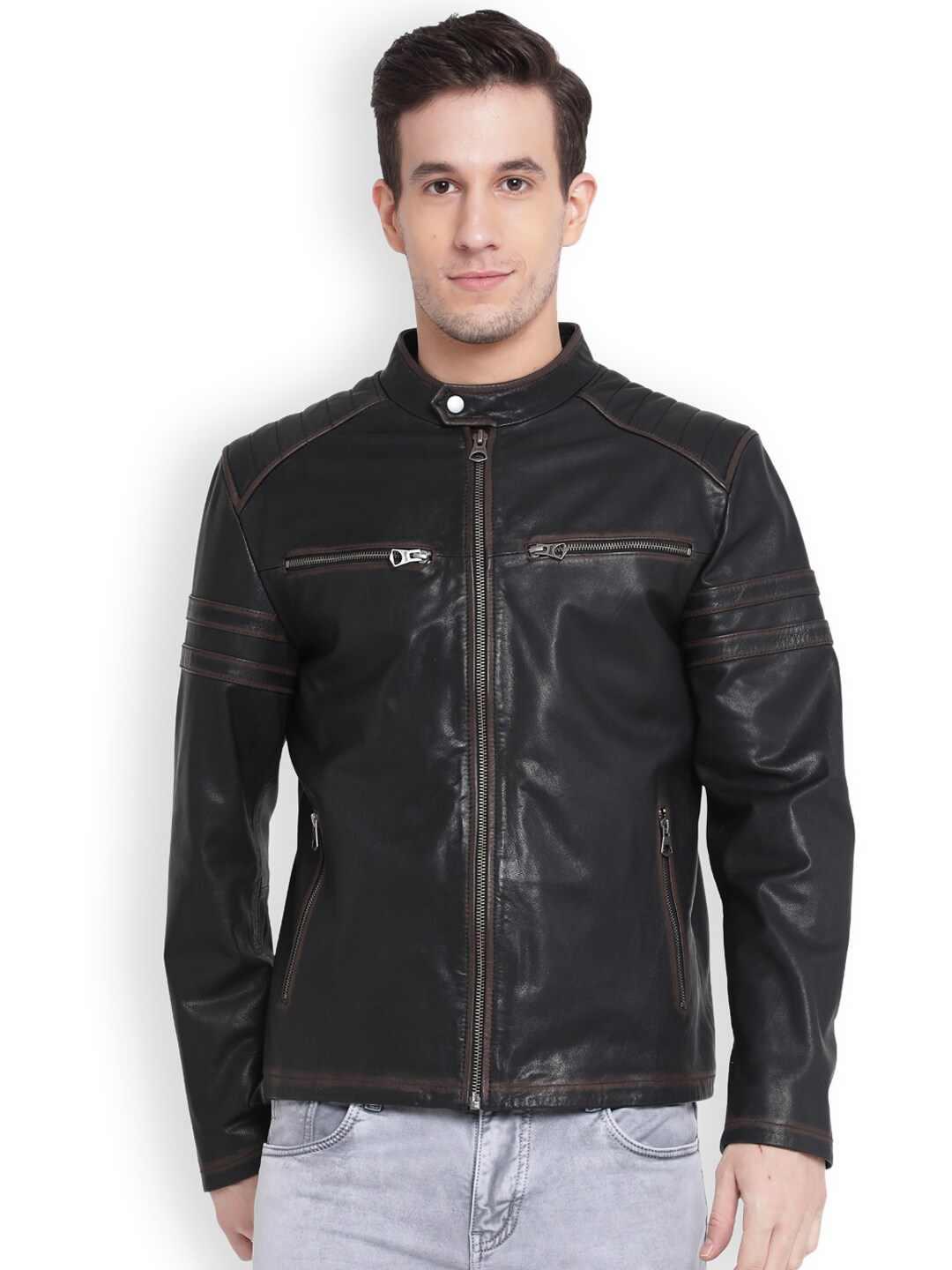 e37c83268 Leather Jackets - Buy Leather Jacket Online in India