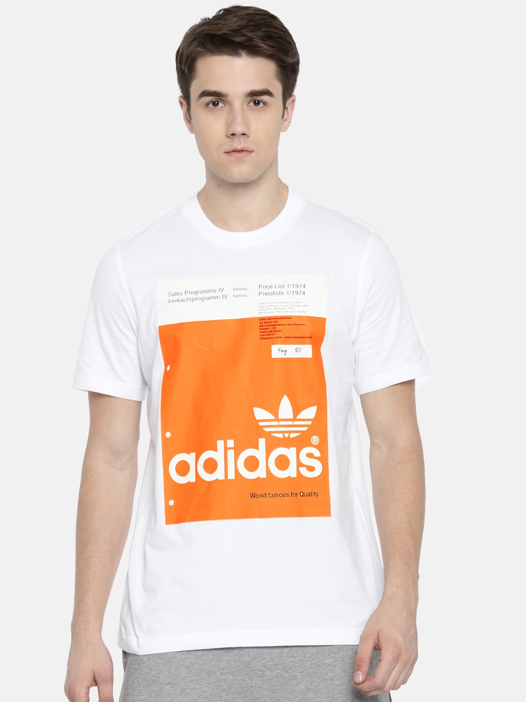 8094a1f79 Adidas Men White Tshirts - Buy Adidas Men White Tshirts online in India