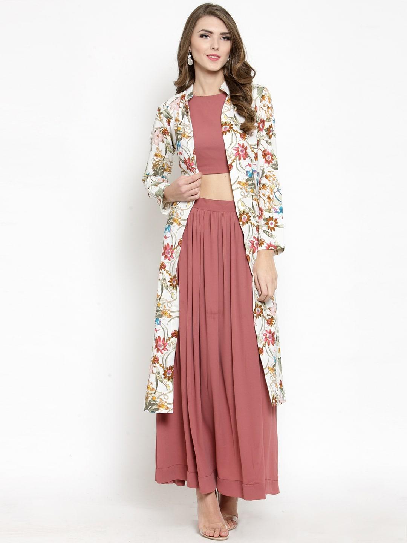 offer pre order elegant shape Sera Women Off-White Printed Open Front Shrug