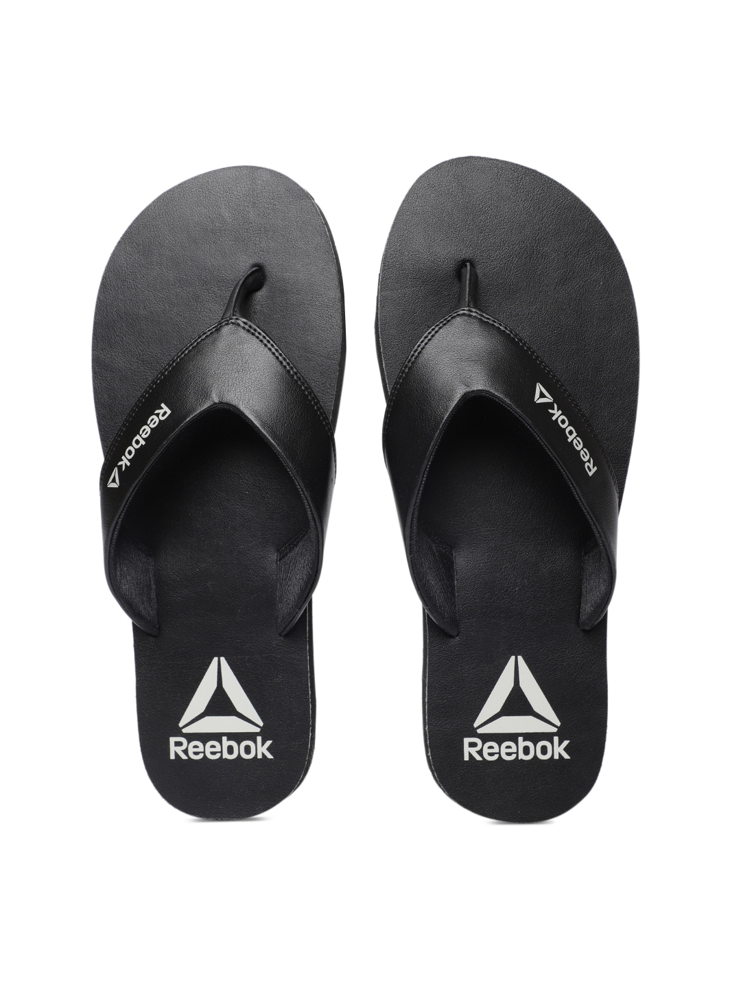 2d6fb5fd3bb01b Reebok Men Black Solid Thong Flip-Flops