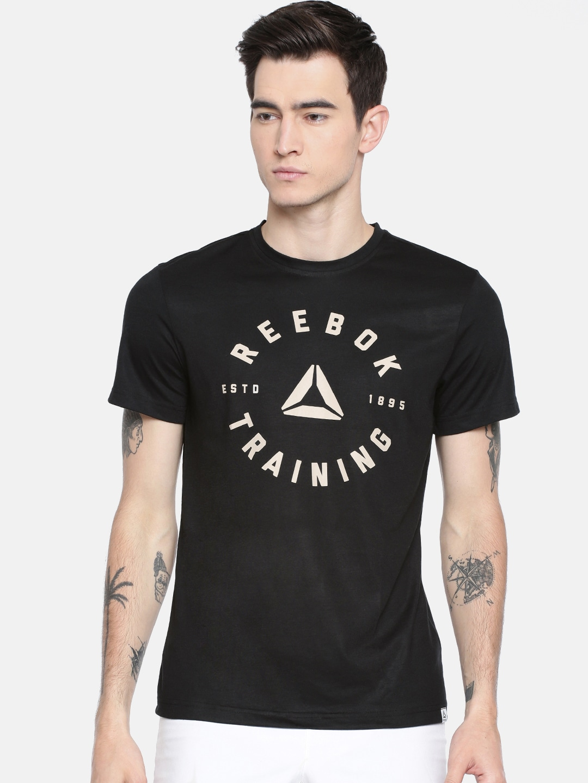 033cd4b48e Reebok Men Black Printed GS TRAINING SPEEDWICK T-shirt