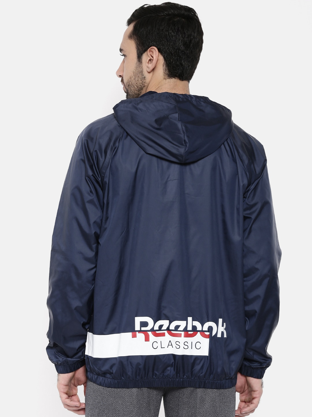 2fb1a65013 Reebok Classic Men Blue Solid AC F WINDBREAKER Sporty Jacket