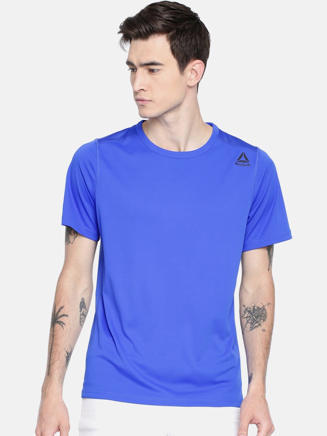 6d1918a869 Reebok Men Blue Solid US WOR TECH SS T-shirt