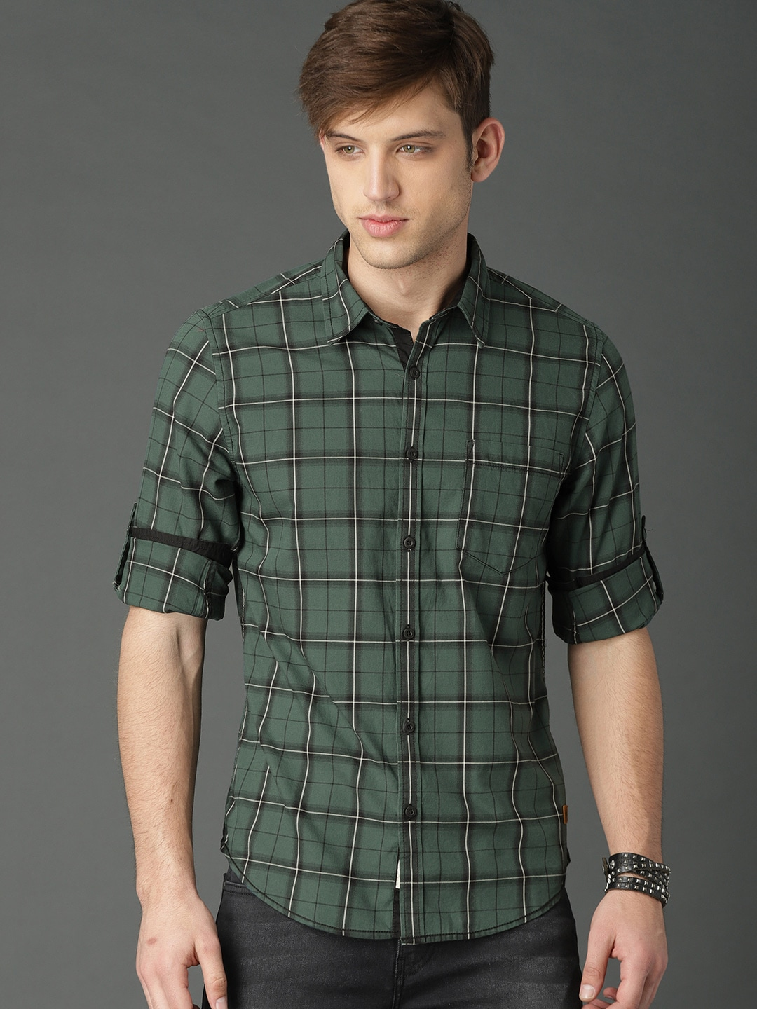 aa1fcf40f97 Buy Roadster Shirts For Men   Women Online at Myntra