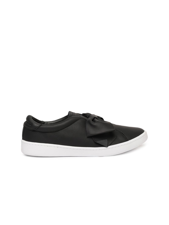 Keds Women Black Slip-On Leather Sneakers