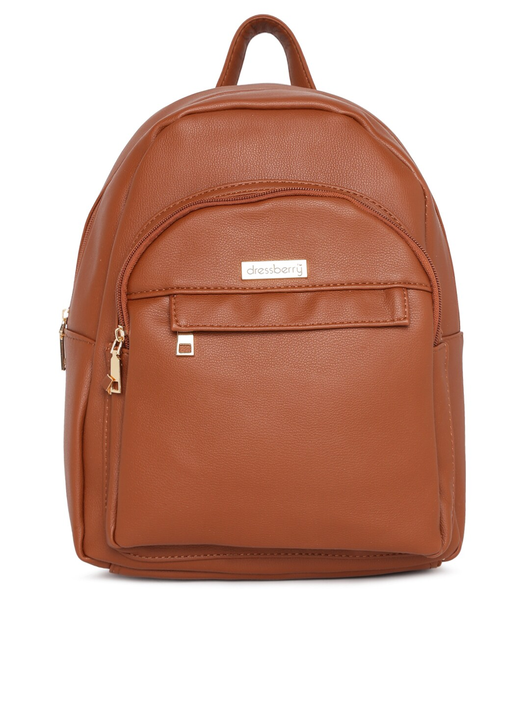 fac4016e928 DressBerry Women Tan Solid Backpack