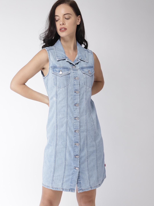 55b8c0dda4 Denim Dresses - Buy Denim Dresses Online in India
