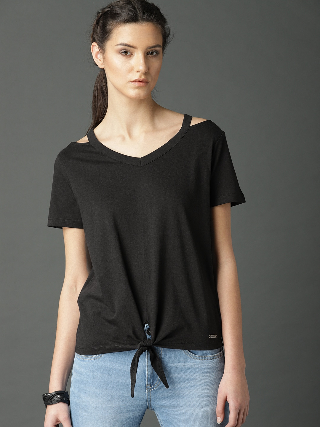 46a79dec692cd1 Cold Shoulder Tops - Buy Cold Shoulder Tops for Women Online - Myntra