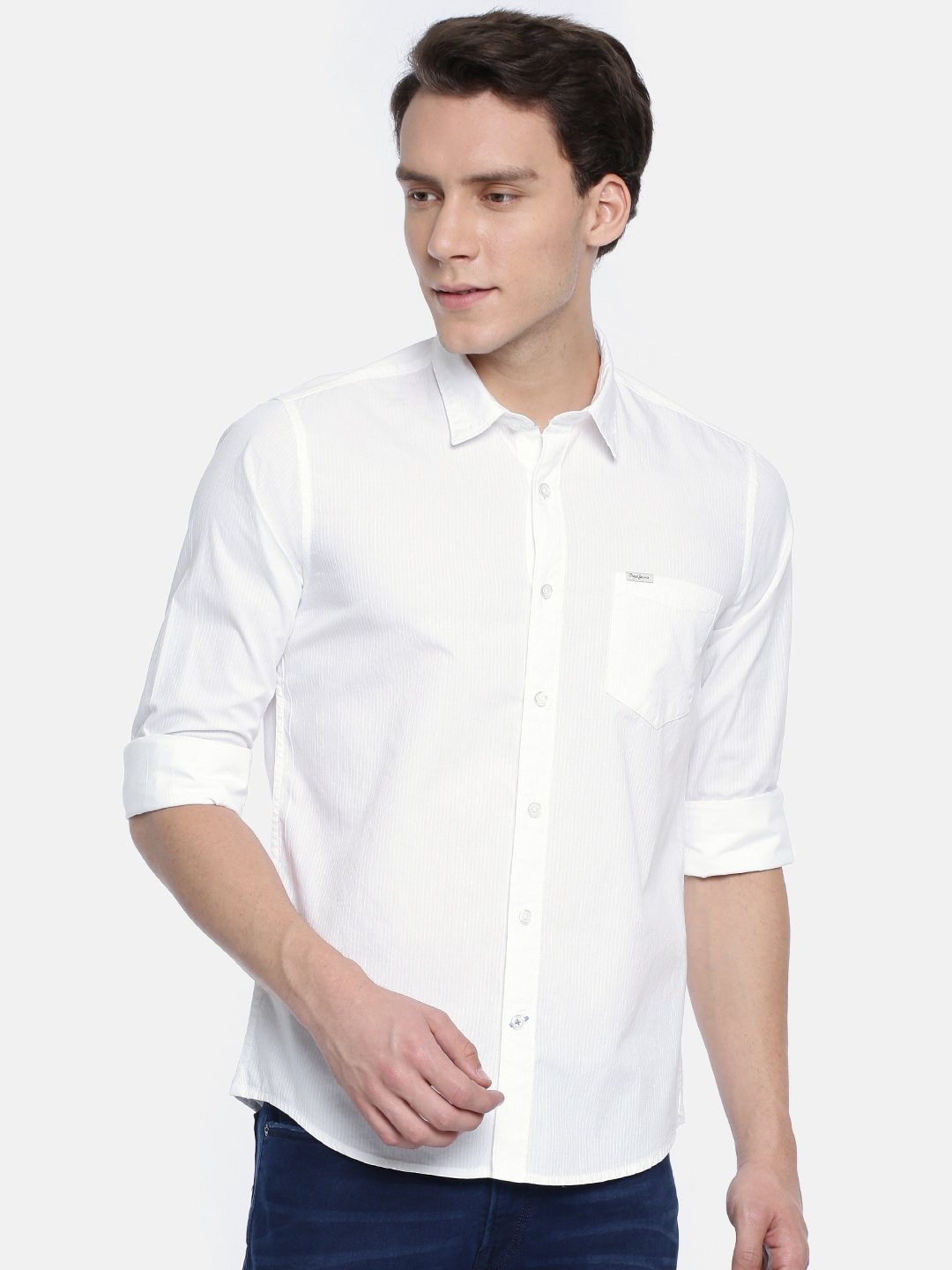 5117c0dd8a8c White Jeans Shirts - Buy White Jeans Shirts online in India