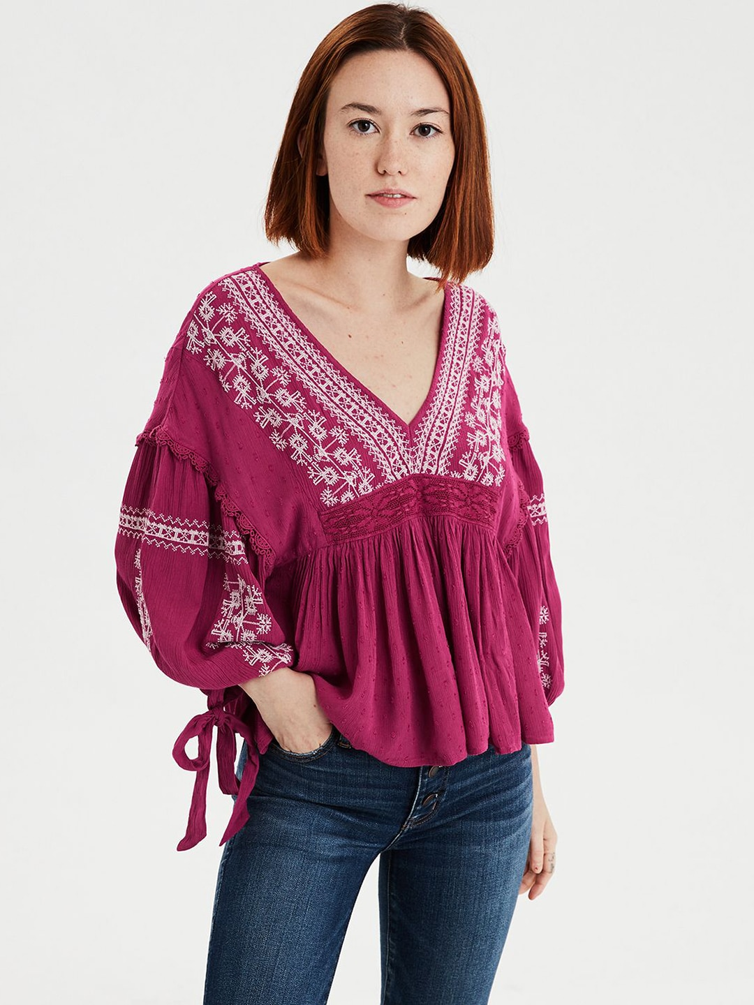 315a8f0a84205 Burgundy Tops - Buy Burgundy Tops online in India