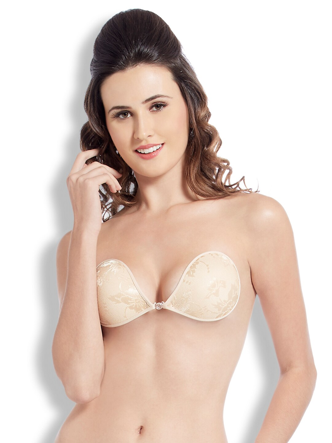 Blush Hearts Beige Push-Up Stick-On Bra RRBH7004XX00DNUD