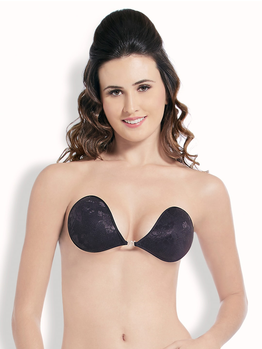 Blush Hearts Black Push-Up Stick-On Bra RRBH7004XX00DBLK