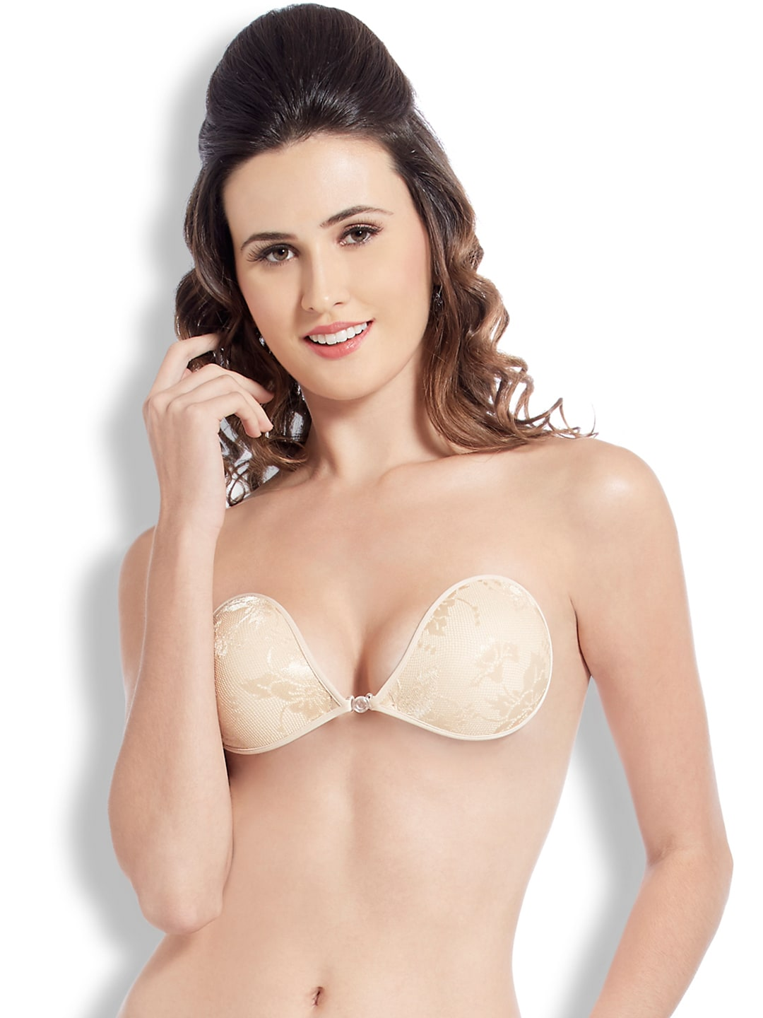 Blush Hearts Beige Stick-On Bra RRBH7004AX00DNUD