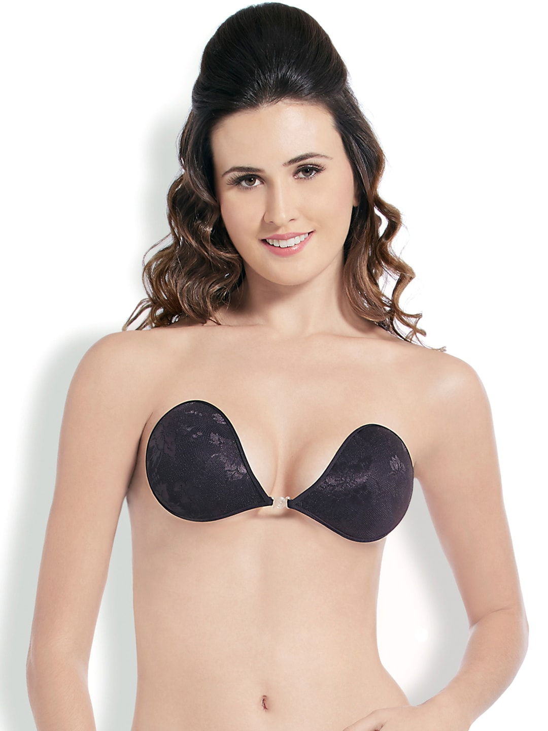 Blush Hearts Black Stick-On Bra RRBH7004AX00DBLK