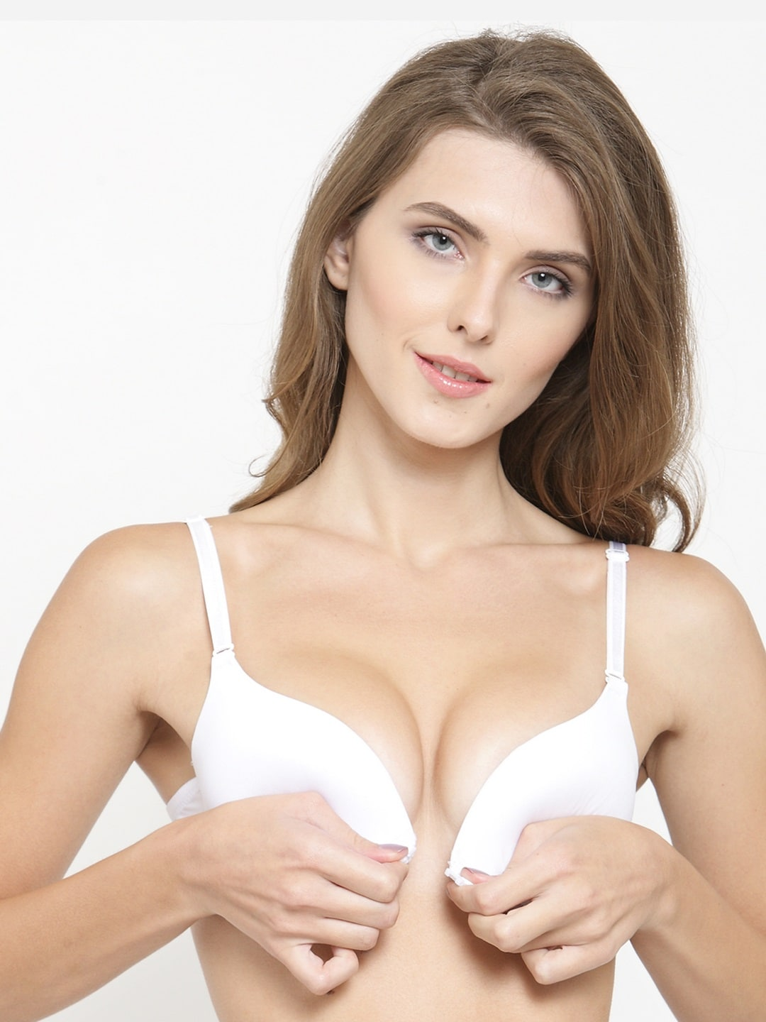 bd42a7fe8c PrettyCat White Solid Underwired Lightly Padded Push-Up Bra PC-BR-20305136B