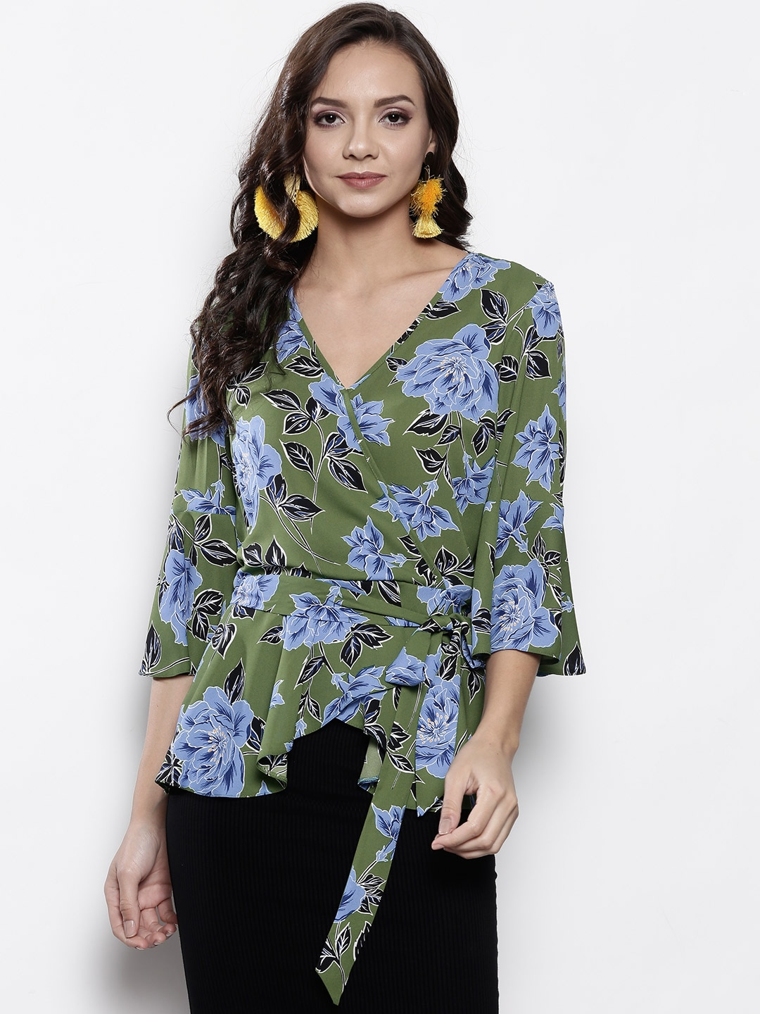 7a6bff39cc470a Wrap Tops - Buy Wrap Tops online in India