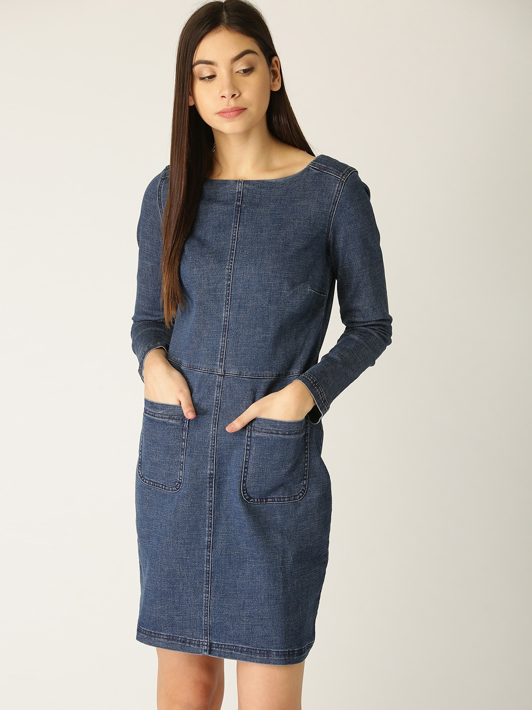 7d488b77eb1 Denim Dresses - Buy Denim Dresses Online in India