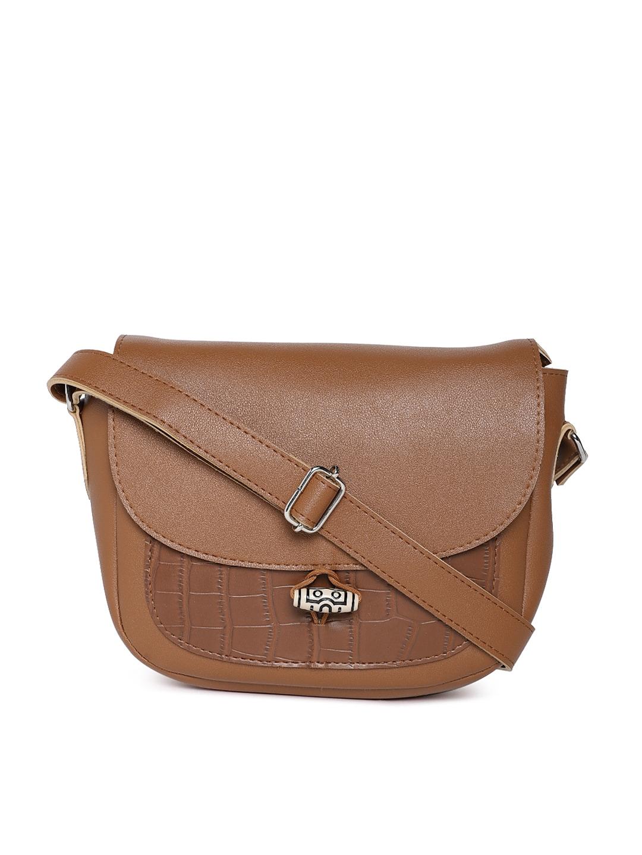 the latest 5fa69 e196f Kanvas Katha Tan Solid Sling Bag