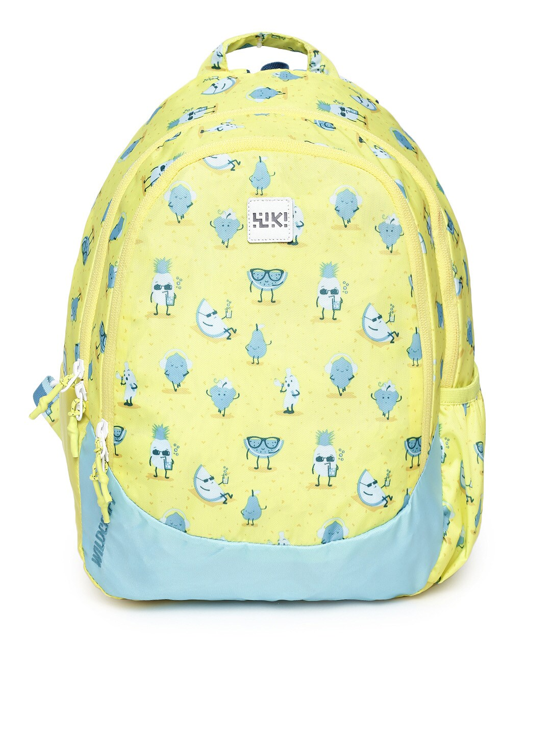 Wildcraft Unisex Yellow & Blue WIKI Junior 1 Fruits Graphic Backpack