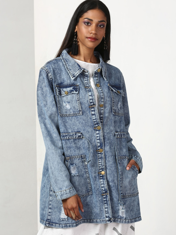 b9e00522d7 Women Denim Jacket - Buy Women Denim Jacket online in India