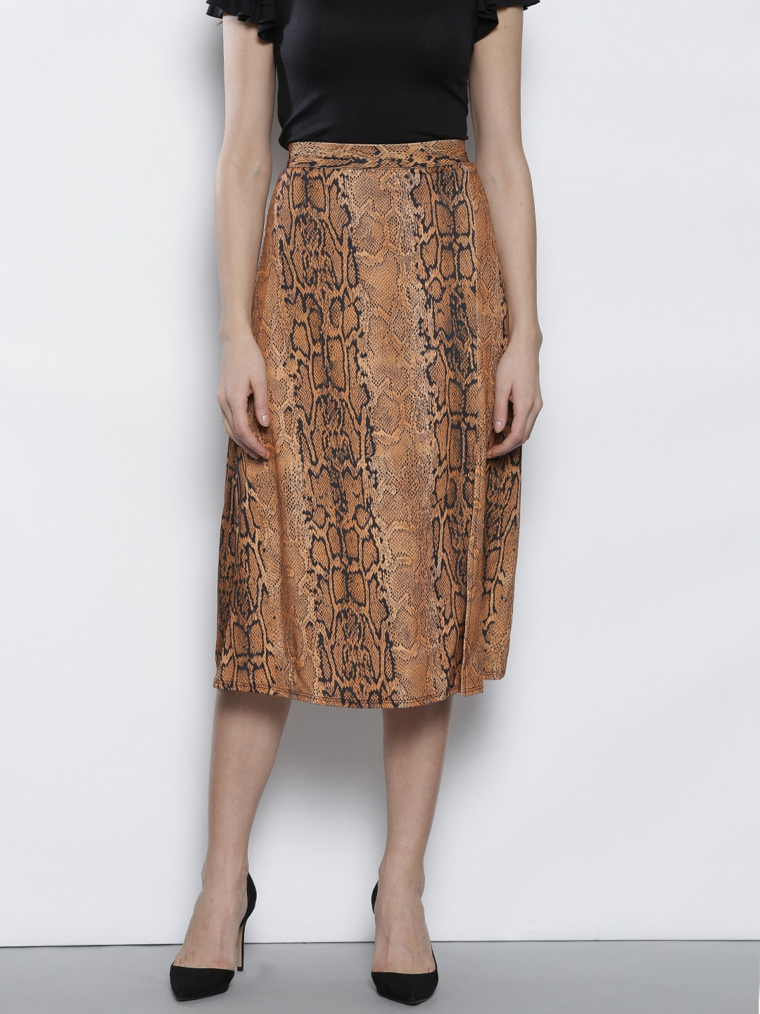 f8805c15791c Brown Skirts - Buy Brown Skirts online in India