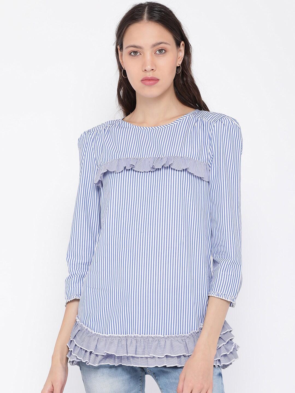 ddfc0b90e36301 Stripe Jeans Tops - Buy Stripe Jeans Tops online in India