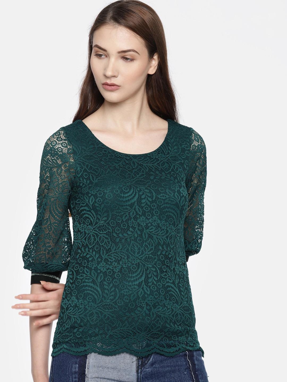 f51794700ad77 Women Green Tops - Buy Women Green Tops online in India