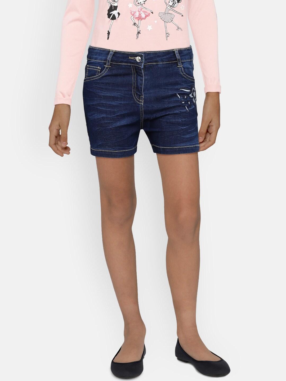 Girls Denim Shorts - Buy Girls Denim Shorts online in India 7368d214b9c7