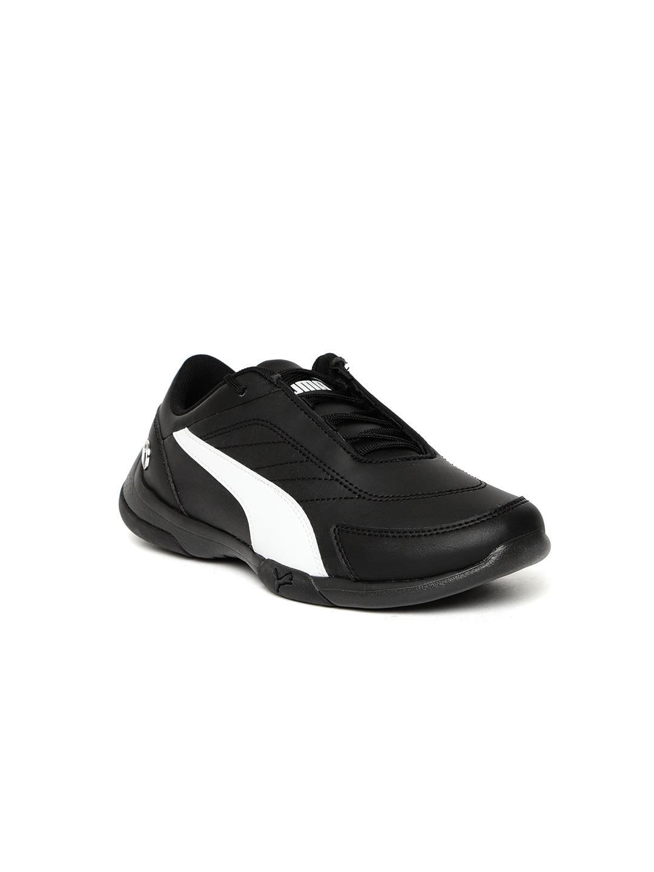 d3c7f77fc7d4 Puma Kids Black & White BMW MMS Kart Cat III JR Sneakers
