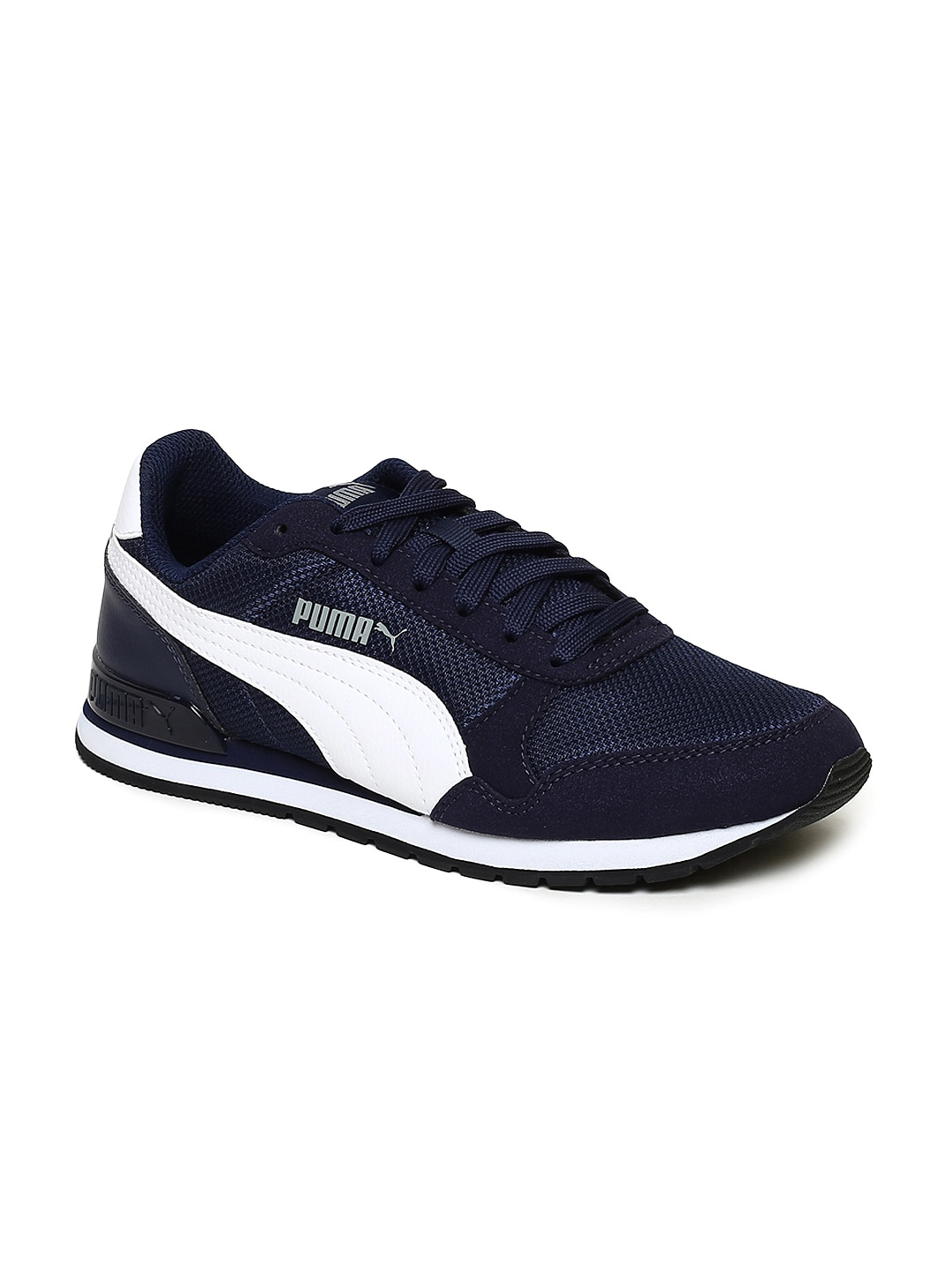 Puma Jr Navy St Runner V2 Mesh Blue Kids Shoes Running H9YE2IDeWb